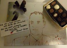 vivi mac forrest gump chocolat   Food Speed Painting par Vivi Mac   Vivi Mac video portrait photo peinture image dessin aliment