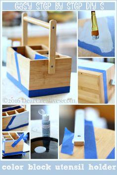 Easter Decorations: Easy DIY s Upcycled Utensil Holder & Utensils