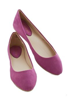 Pop of Pep Flat. Infuse a touch of color and a whole lot of pizzazz to your outfit with these orchid-purple flats! #purple #modcloth