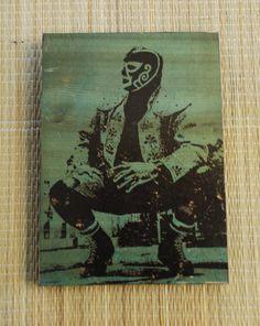 Original wood transfer Huracan Ramirez  by valazozartandvintage, $20.00
