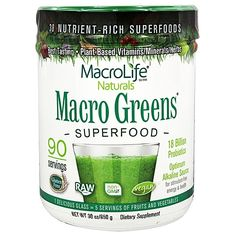 Macro Life Naturals Macro Greens Superfood is a true green superfood containing…