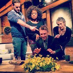 Just look at the flowers...The Talking Dead- Chris Hardwick, CM Punk, Yvette Nicole Brown, Melissa McBride