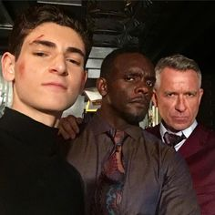 "The Bat & The Cat (@GothamBatAndCat) | Twitter  ""David Mazouz, Chris Chalk and Sean Pertwee on the set of #Gotham. Posted by Chris on IG: https://www.instagram.com/p/BW8EINsgsbL/ ."""