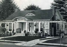 1926 Standard House Plans: The Thorndyke  -- 1700 square feet.  2 bedrooms with dining room.