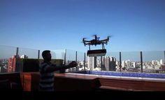 Drone já entrega pizza no ABC paulista > Pizza voadora: à espera da regulamentação da ANAC (Foto: divulgação)