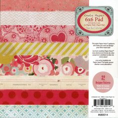 6x6 Paper Pad from Crate Paper - Paper Heart Collection. $4.99, via Etsy.