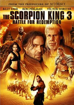 The Scorpion King 3: Battle for Redemption (3 stars) Surprisingly, this was better than SK2, although it is another straight to DVD product. Three movies and three different actors playing the title character. Kind of telling, isn't it? You can't have high expectations going in or you'll be disappointed. The story moves at a good pace, Olaf gives good comic relief, Silda (Krystal Vee) does appear to be worth fighting for, and the Scorpion King regains his confidence. I liked it.