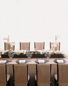 Sleek and chic table arrangements for your wedding.