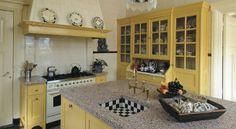 Keukens - Zwiers Meubelmakerij Kitchen Island, Kitchen Cabinets, Kitchen Interior, Living Room Designs, Cottage, Diner Ideas, Interiordesign, Kitchen Ideas, Home Decor