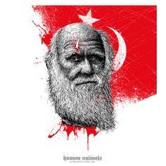 """""""Es ist, als ob man einen Mord gesteht...""""  vertraute der größte Vordenker der modernen Evolutionslehre Charles Darwin vor der Veröffentlichung seines Werkes """"Entstehung der Arten"""" (1859) einem Freund an. Er fürchtete sich vor öffentlicher Ächtung, nicht nur, weil seine Ideen die Kirche und ihre religiösen Mythen düpierte, sondern vor allem, weil ... > http://vegan-art.com/content/184-kafir-darwin"""