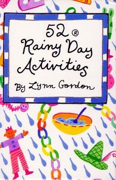52 rainy Day Activites features an array of enjoyable and imaginative things to do. This fun pack is ideal for children (and their parents) stuck inside on a rainy day