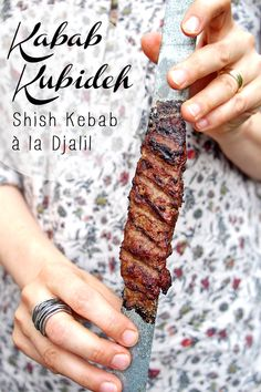 Kabab Kubideh (Kabab mit Hackfleisch) ODER Shish Kebab à la Djalil - © Fee ist mein Name