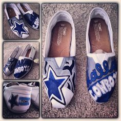 Custom painted Dallas Cowboys Toms by Me! :)