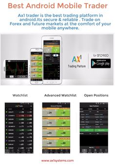 AX1 Android is an ideal choice and make it the best android trading platform ,with the ax1 android trader find trading opportunities faster,smarter trading. http://www.ax1systems.com