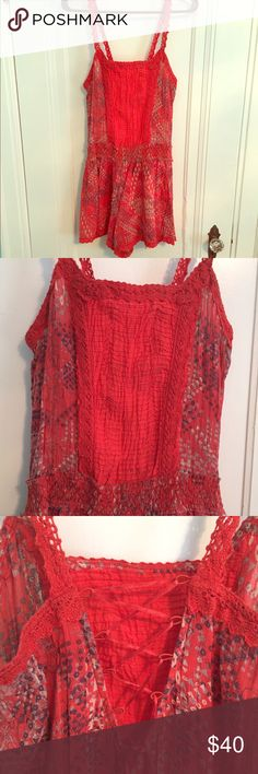 Free People romper Gorgeous Free People romper, size small. The condition is like-new. Please feel free to make me an offer.  Free People Other