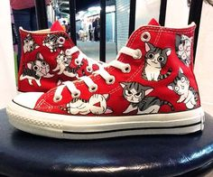 Made to Order , hand painted custom converse shoes. $130.00, via Etsy.