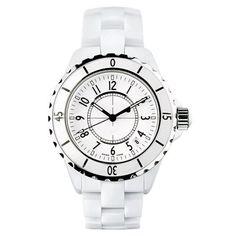 White Ceramic Quartz Wristwatches