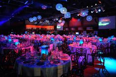 Illuminated tables added to the event's northern lights theme. Photo: George Pimentel