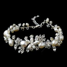 Bridal Bracelet Wedding Bracelet Bridal by goddessdesignsgems
