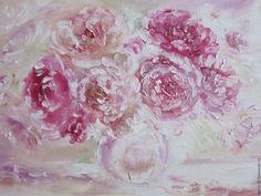 Купить Картина маслом Нежный букет Вдохновение - розовый, лето, цветы, розовые цветы