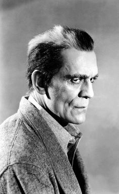 Boris Karloff, born as William Henry Pratt - English actor, best remembered for his roles in horror films and his portrayal of Frankenstein's monster. Classic Horror Movies, Classic Films, Classic Hollywood, Old Hollywood, Horror Monsters, Horror Icons, Famous Monsters, Bride Of Frankenstein, Classic Monsters