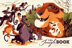 Cyclops Print Works Print #27: The Jungle Book by Tom Whalen
