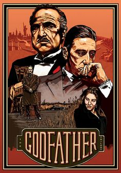 The Godfather Trilogy Poster, self initiated project by Michael Gambriel, via Behance