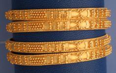 22k Gold set of 4 Bangles with Granulation #22k Gold, #Bangles, #Granulation, #bangle bracelet, #slip on bangle, #Gold, #21k gold bangle bracelet, #bracelet