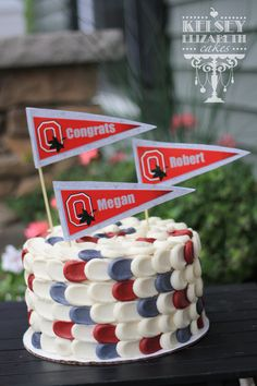 Kelsey Elizabeth Cakes: Ohio State Grad Cake www.kelseyelizabethcakes.com Twin First Birthday, Cake Decorations, Cake Smash, Let Them Eat Cake, Petra, Cake Cookies, Birthday Cakes, Oreo, Cake Ideas