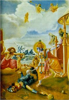 Shri Krishna killled Dantavakra