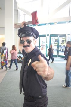 Axe Cop is here to save the day from all manner of bad guys. Stay safe, Anime Expo citizens.
