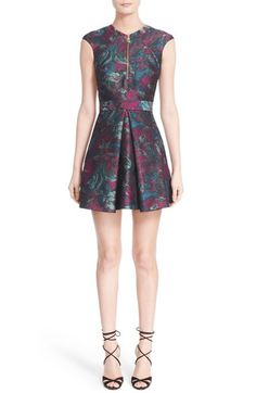 Versace Jacquard Print Fit & Flare Dress available at #Nordstrom