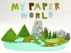 Rainy day fun :) paper toys my paper world from Mr Printables Do It Yourself Inspiration, Inspiration Art, Rainy Day Activities, Craft Activities, Paper Art, Paper Crafts, Foam Crafts, Rainy Day Fun, Rainy Days