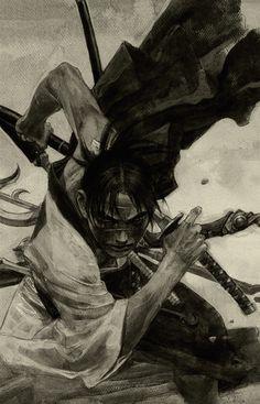 Hiroaki Samura/沙村 広明 — (1993–2012) Blade of the Immortal/無限の住人 Illustration [Manji/卍]