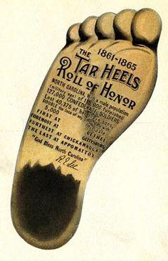 "Tar Heel Postcard, 1915 why we are called ""Tarheels"""