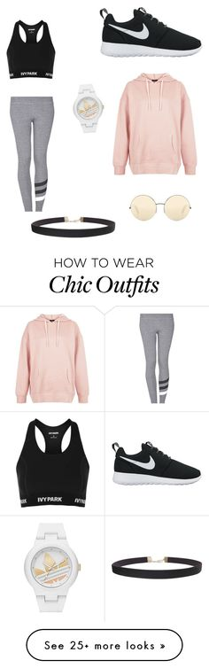 """Dancer outfit"" by peytonbug117 on Polyvore featuring Topshop, Sundry, NIKE, adidas, New Look, Humble Chic and Victoria Beckham"
