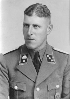 Hans Hüttig, Kommandant at Natzweiler (1942) and Herzogenbusch (1943-1944.)  He also served in four other camps during his career. About 17,000 persons died at Natzweiler during the war, while the number, who died at Herzogenbusch remains unknown. At the end of the war, was assigned to the 34th SS Division.  He was sentenced to Life imprisonment but was released in 1956.  He died in 1980.