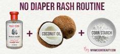 no diaper rash routine