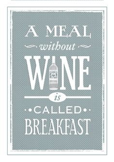 Wine Poster Shabby Chic Decor Kitchen Poster by oflifeandlemons