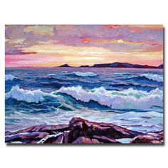David Lloyd Glover 'California Sunset' Canvas Art by Trademark Fine Art