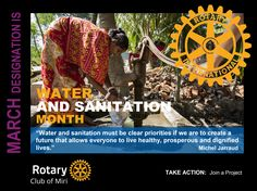 Rotary Club of Miri - Mini Poster - March - Water and Sanitation Month by GT