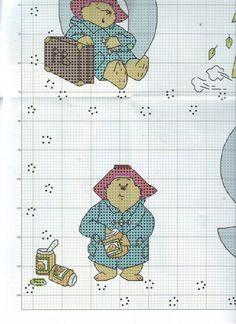 ru / Фото - The world of cross stitching 146 - tymannost Cross Stitch Numbers, Cross Stitch Alphabet, Cross Stitch Charts, Cross Stitch Designs, Cross Stitch Patterns, Bead Patterns, Oso Paddington, Teddy Bear Puppies, Teddy Bears