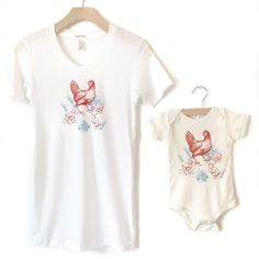 It's not too late to get your Mother's Day order in!  We have just added our matching Mommy & Me Chicken shirts to our etsy shop.