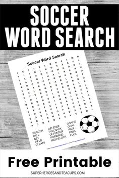 Your child can learn important soccer vocabulary with this soccer word search free printable. It includes 15 words common to the sport. Sports Activities For Kids, Educational Activities, Learning Activities, Fun Printables For Kids, Free Printables, Free Printable Word Searches, Book Lists, Kids And Parenting, Vocabulary
