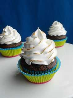 Culinary Couture: Chocolate Graham Cracker Cupcakes with Toasted Marshmallow Frosting