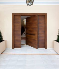 Modern Entrance Door, Modern Exterior Doors, Modern Front Door, House Front Door, House Doors, House Entrance, Door Design Interior, Main Door Design, Wooden Door Design
