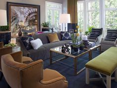 Create a Conversational Atmosphere - Living Room Design Tips From Candice Olson on HGTV
