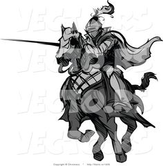 vector-of-a-knight-charging-on-horse-while-aiming-lance-grayscale-by-chromaco-1935.jpg (1024×1044)