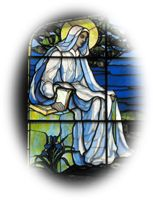Bruce Porter stained glass.  St. Mary's by the Sea in Pacific Grove, CA