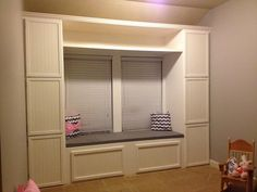 DIY Built in Reading nook with Storage